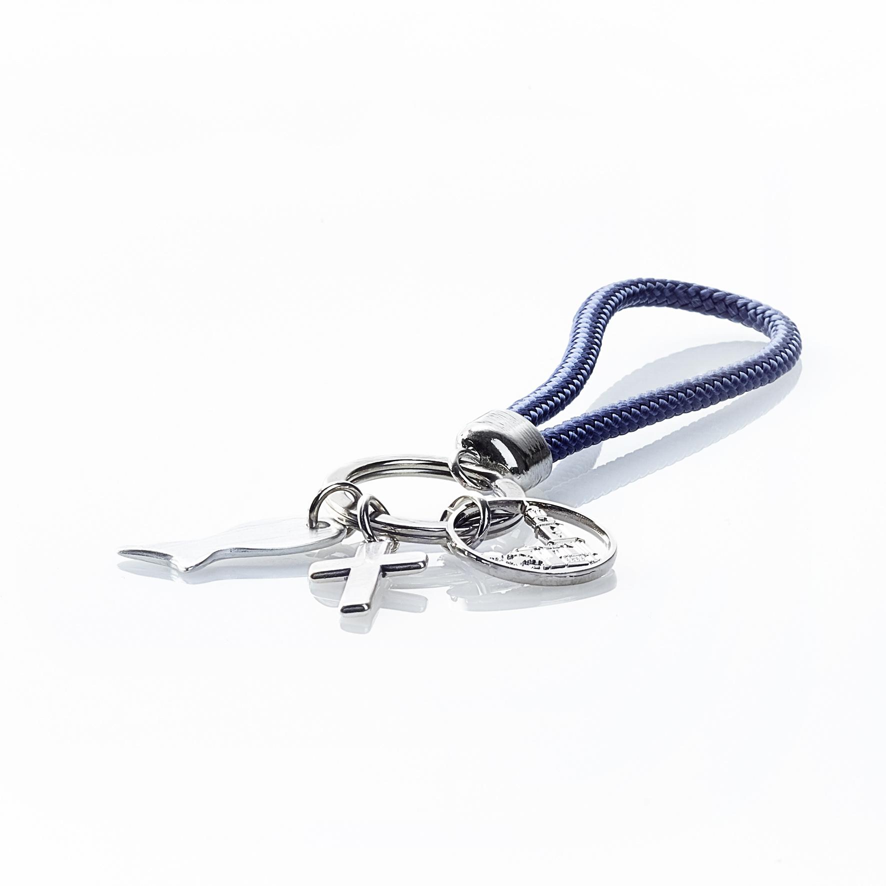 Schlüsselanhänger aus Segeltau