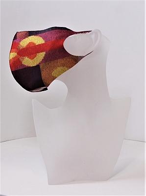 Mund und Nasen-Bedeckung nach Sophie Taeuber-Arp rot