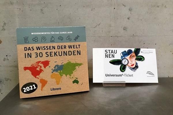 """Kalender """"Das Wissen der Welt in 30 Sekunden"""" und Tageskarte Erwachsene"""