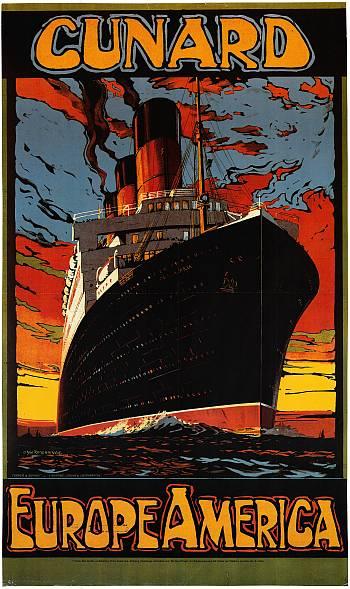Poster CUNARD – Europe America