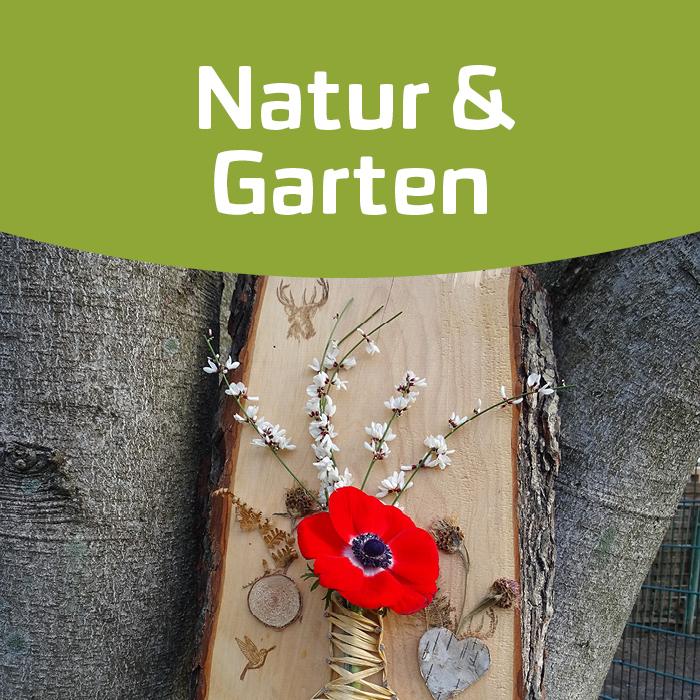Kreatives Gestalten mit Holz und Blumen!