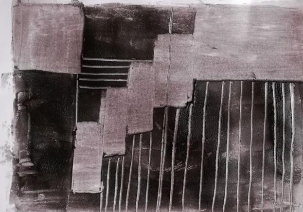 Siebdruck schwarz-weiß