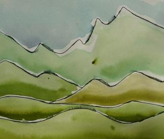 Linien, Wellen, Muster- Modellieren mit Farbe